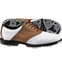 Men's SuperLites Golf Shoes - White/Taupe