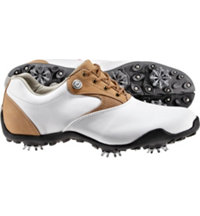 Women's Closeout LoPro Spiked Golf Shoes - White/Sorghum (FJ# 97119)