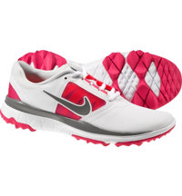 Women's FI Impact Spikeless Golf Shoes - White/Pink/Gray
