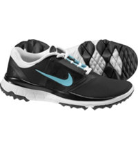 Women's FI Impact Spikeless Golf Shoes - Black/Blue/White
