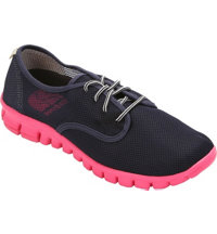Women's Winkle Mesh Casual Shoes - Navy