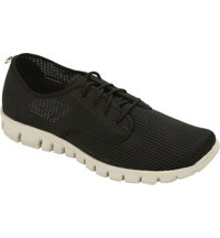 Men's Winkle Lace-Up Casual Shoes - Black