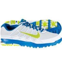 Men's Air Range WP II Spikeless Golf Shoes - Platinum/Venom Green/Military Blue/White