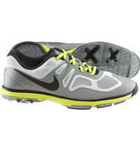 Men's Closeout Lunar Ascend II Spikeless Golf Shoes - Grey/Black/Venom Green