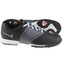 Women's Lunar Embellish Spikeless Golf Shoes - Black/Metallic Cool Grey/White