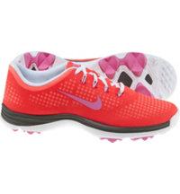Women's Lunar Empress Spikeless Golf Shoes - Laser Crimson/Red Violet/Hot Punch