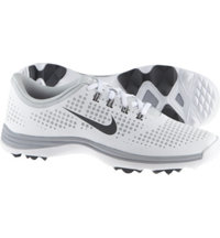 Women's Lunar Empress Spikeless Golf Shoes - White/Gray/Pure Platinum