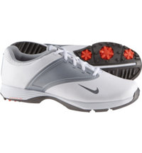 Women's Lunar Spikeless Golf Saddles - White/Metallic Cool Grey/Wolf Grey
