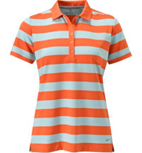 Women's Bold Stripe Short Sleeve Polo
