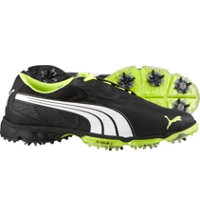 Men's BioFUSION Lite Spiked Golf Shoes - Black/White/Fluorescent Yellow