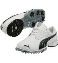 Men's BioFUSION Lite Spiked Golf Shoes - White/Black