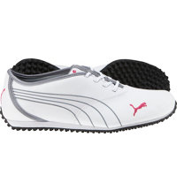 Women's Monolite Spikeless Golf Shoes - White/Tradewinds/Purple