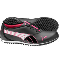 Women's Monolite Spikeless Golf Shoes - Black/White/Purple