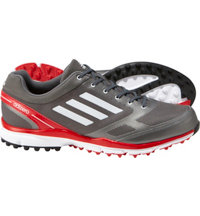 Men's adizero Sport II Spikeless Golf Shoes - Silver/White/Red