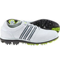Men's Pure 360 Spiked Golf Shoes - White/Silver/Slime