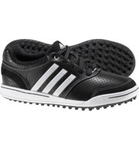 Jr. adicross III Spikeless Golf Shoes - Black/Black/White