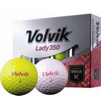 Personalized Lady 350 Pink/Yellow Golf Balls