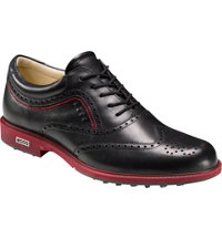 Men's Tour Hybrid Wing Tip Spikeless Golf Shoes - Black/Brick