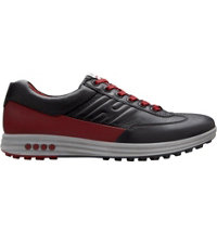 Men's Street Evo One Spikeless Golf Shoes - Black/Port