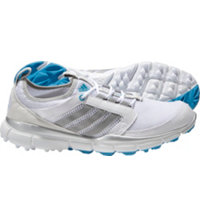 Women's adistar Clima Cool Spikeless Golf Shoes - White/Silver/Blue