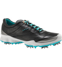 Women's BIOM Golf Spiked Golf Shoes - Black/Turquoise