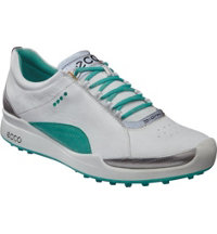 Women's Biom Golf Hybrid Spikeless Golf Shoes - White/Turquoise