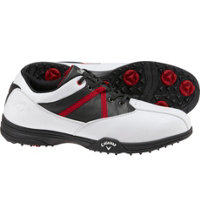 Men's Chev Comfort Spikeless Golf Shoes - White/Black/Red