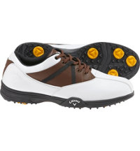 Men's Chev Comfort Spikeless Golf Shoes - White/Brown
