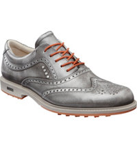 Men's Tour Hybrid Wing Tip Spikeless Golf Shoes - Silver/Orange