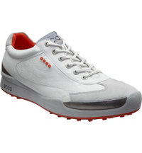 Men's BIOM Hybrid Spikeless Golf Shoes - White/Fire