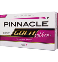 Personalized Gold Ribbon 15-Pack Golf Balls