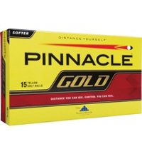 Personalized Gold 15-Pack Yellow Golf Balls