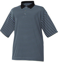 Men's Stretch Lisle Pique Stripe Polo