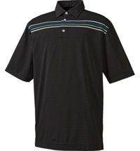 Men's Solid Texture Chest Stripe Polo