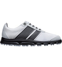 Men's Closeout Superlites CT Spikeless Golf Shoes - White/Black (FJ#58176)