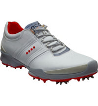 Men's BIOM Golf Spiked Golf Shoes - White/Fire Caldera