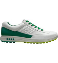 Men's Street Evo One Spikeless Golf Shoes - White/Masters Green