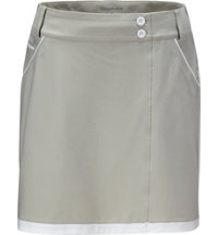 Women's Contrast Piping Woven Skort