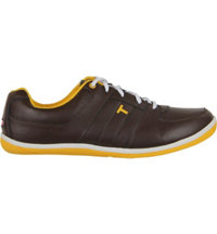 Men's TRUE VEGAS Spikeless Golf Shoe-Brown/Orange