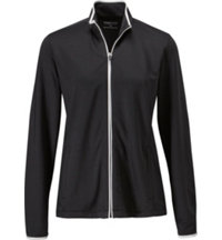Women's Contrast Tipping Mock Full-Zip Jacket