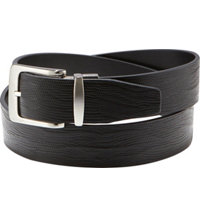 Men's Embossed Lizard Print Reversible Belt