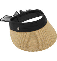 Women's Straw Embellished Visor