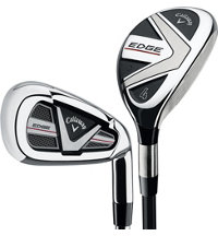 Edge 4H-6H, 7-PW, AW Combo Iron Set with Steel Shafts