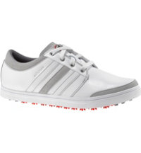 Men's adicross Gripmore Spikeless Golf Shoes - White/Light Scarlet
