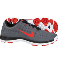 Men's Lunar Cypress Spikeless Golf Shoes - Dark Grey/Black/White/Crimson