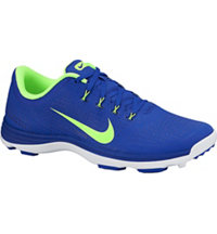 Men's Lunar Cypress Spikeless Golf Shoes - Bright Blue/White/Volt