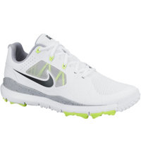 Men's Closeout TW14 Mesh Spikeless Golf Shoes - White/Volt/Wolf Grey/Black
