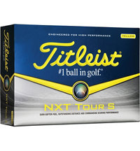 Logo NXT Tour S Yellow Golf Ball