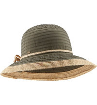Women's Ribbon and Raffia Upturn Sun Hat