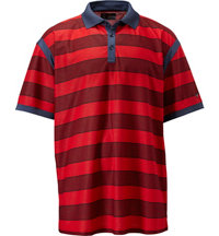 Men's Big & Tall Rugby Striped Polo